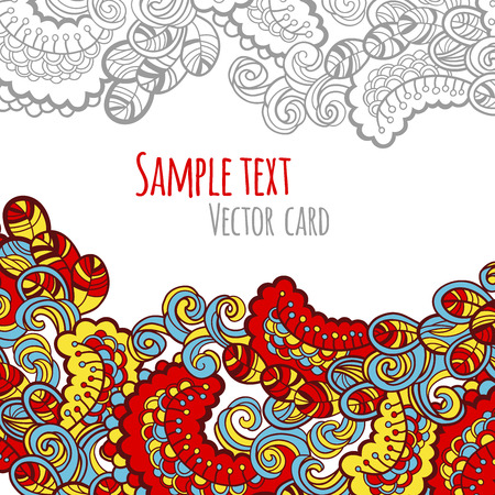 abstract floral: Abstract floral vector card.