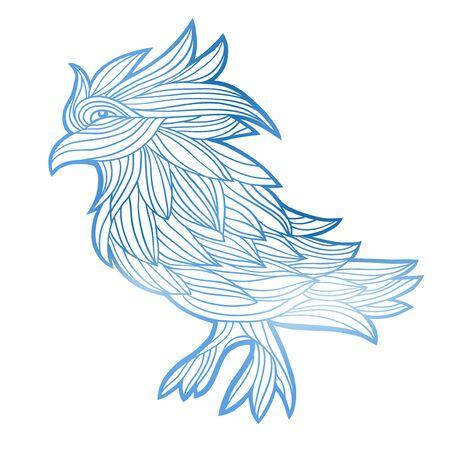 graphic: Vector graphic bird illustration.