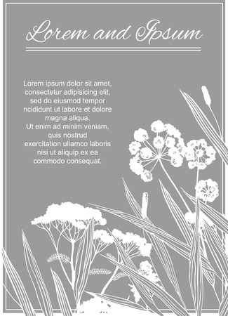 graphic: Vector graphic floral card.