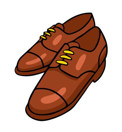 Ilustración del vector en estilo de dibujos animados aislado en blanco. Zapatos. Foto de archivo - 40983970