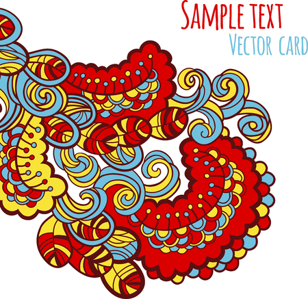 Abstract floral vector kaart.