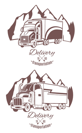 Big truck. Vector illustration.