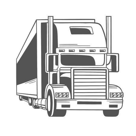 Camión grande. Ilustración del vector. Foto de archivo - 83432790