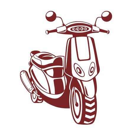 Motorfiets. Vectorillustratie geïsoleerd op wit. Stock Illustratie
