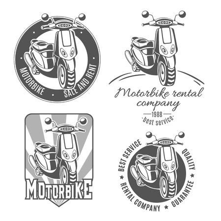 Motorfiets. Set van vector logo's.