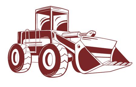 Illustratie van de bulldozer. Stock Illustratie