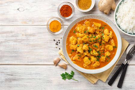 Chicken curry in plate Standard-Bild