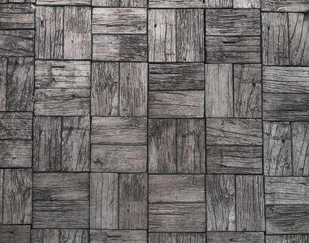 cement floor: gray background and railroad ties texture, wood floor