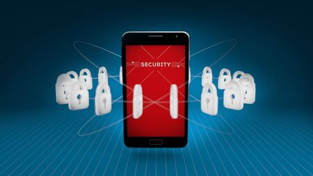 business security: security on smart phone and technology, protection online