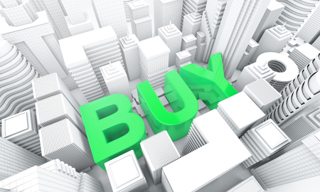 Buy property and building asset for investment, business concept, 3d rendering