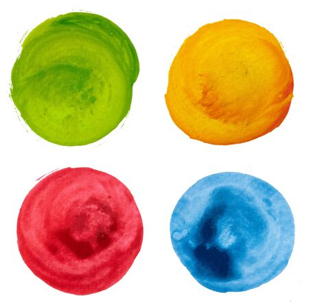 Colorful mix art paint circle isolate background