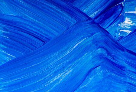 Colorful mix art paint background, blue and white Banco de Imagens