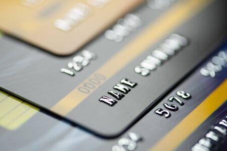 Close up modern credit card business background Banco de Imagens