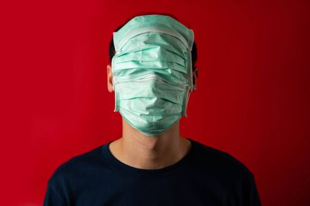 Man with mask cover face, fear virus Infect