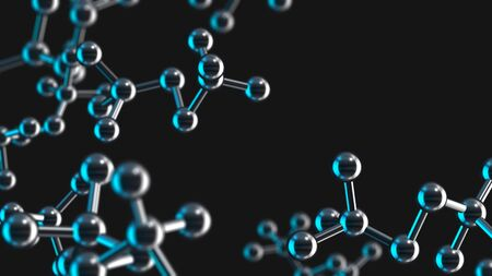 Molecule structure, scientific medical background 3D rendering 免版税图像