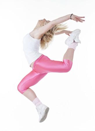 Modernes Hip-Hop-Stil Teenager-Mädchen-Springen