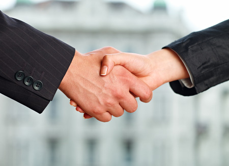 Business People shaking hands 스톡 콘텐츠