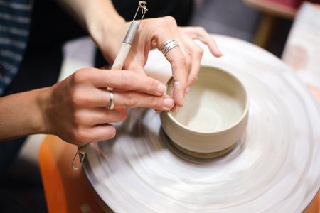 potter: Hands of a potter