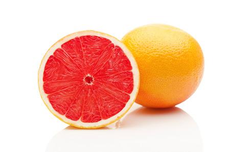Grapefruit on white background 写真素材