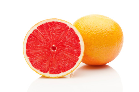 Grapefruit on white background Foto de archivo