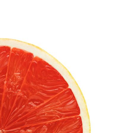 at close quarters: Grapefruit on white background Stock Photo