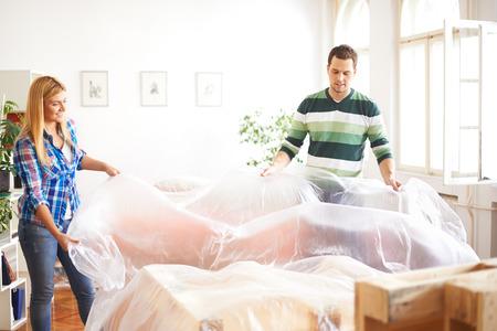Protecting furniture 写真素材