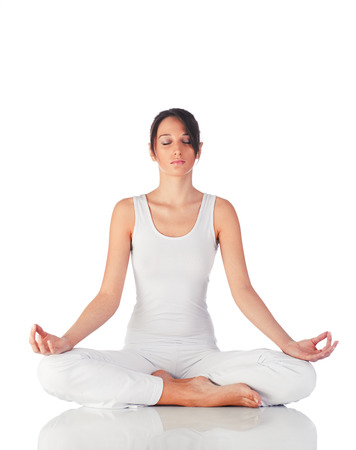 Young woman doing yoga Stock Photo - 36714899