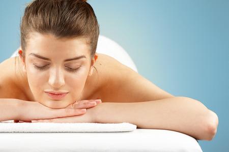 closed eye: Spa treatment
