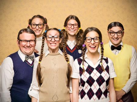 オタクの小グループの肖像画 写真素材