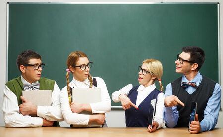 Modern vs classical nerds photo