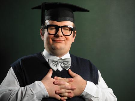 Content male nerd
