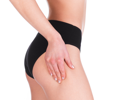checking: Checking cellulite Stock Photo
