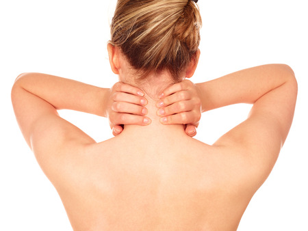 'head and shoulders': Neck pain