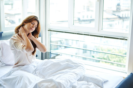 emotional pain: Neck pain in bed