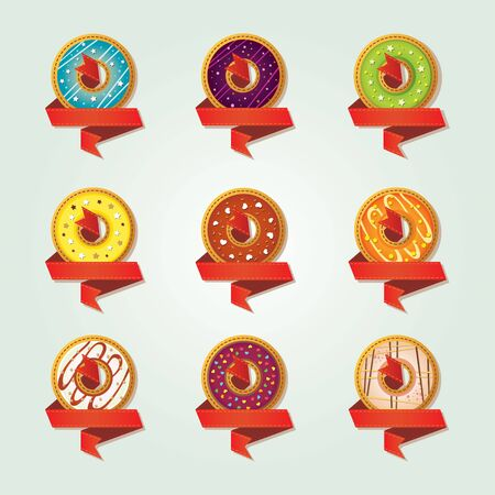Icons for a shop selling donuts