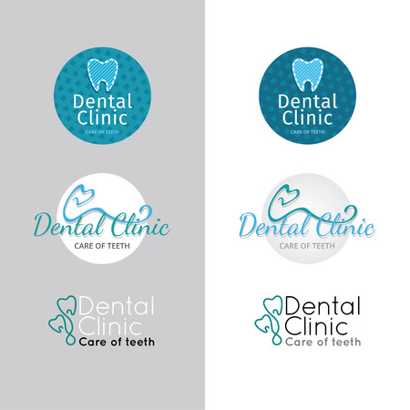 dental clinic. Color set Illustration
