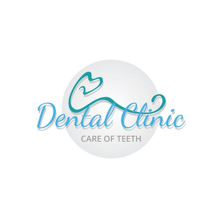 dientes sanos: clínica dental. Color Vectores