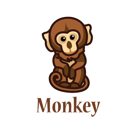 monkey ILLUSTRATION: A picture which depicts a brown monkey Illustration