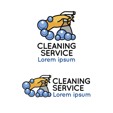 dry cleaner: Cleaning service logo