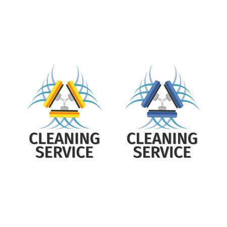 aseo: Logotipo del servicio de limpieza