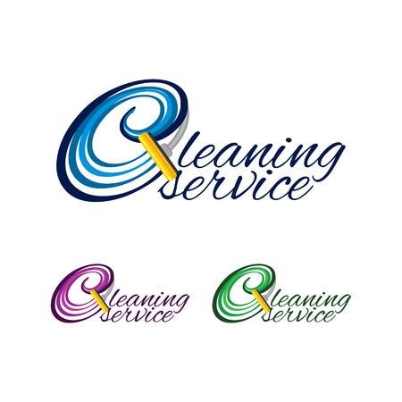 クリーニング サービスのロゴ  イラスト・ベクター素材