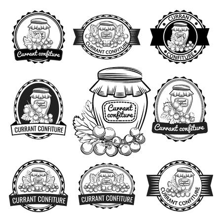 Currant confiture preserves label