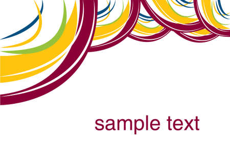 gradient ribbon on the white background, bright