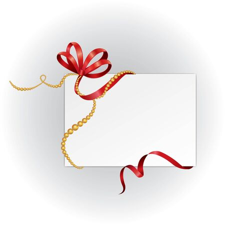 gift card with red ribbon