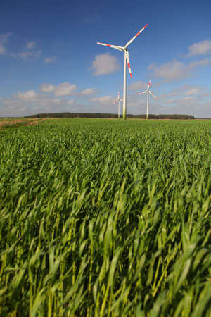 Wind turbine in a green field Stock Photo - 4867723