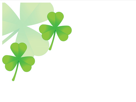 ocassion: card with clovers Illustration