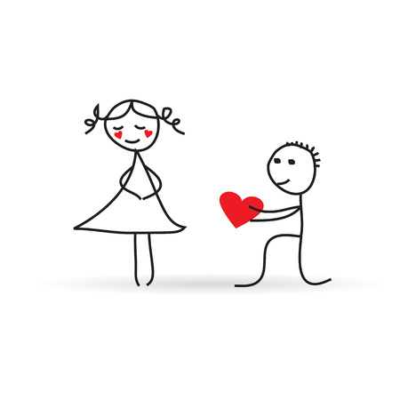 funny proposal for Valentine s Day Vector