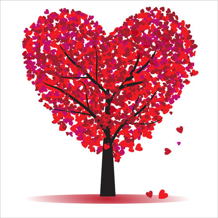 tree of love for Valentine s Day Vector