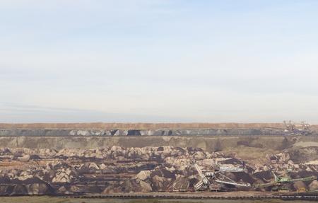 open pit: Landscape of open pit mine