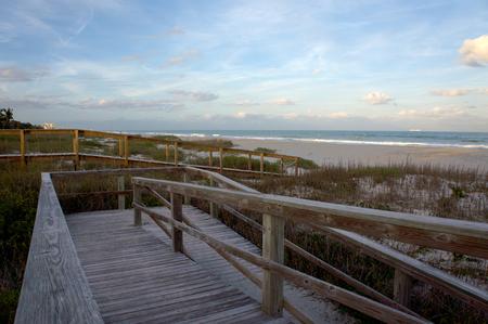 cocoa beach: View of Atlantic ocean from the beach. Cocoa Beach, Florida, USA.